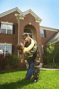 Military Family Moving into New Home